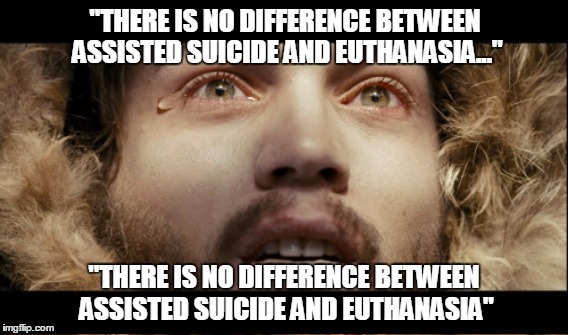Into the Wild Meme - Conflating assisted suicide and euthanasia